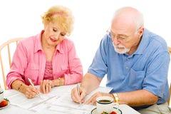 Abstimmung - Älter-Markierungs-Stimmzettel Lizenzfreie Stockfotos