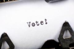 Abstimmung Stockfotos