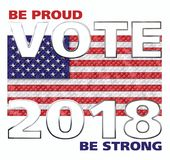 Abstimmung Amerika 2018 Stockfoto