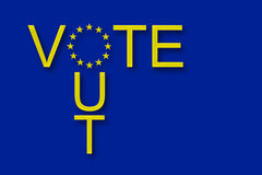 Abstimmung aus Europäischer Gemeinschaft heraus Stockbilder