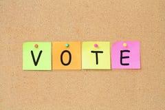 Abstimmung-Begriff lizenzfreie stockfotos