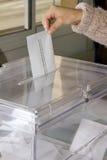 Abstimmung an den Wahlen Lizenzfreie Stockfotos