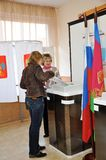 Abstimmung in den Wahlen Stockfoto
