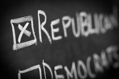 Abstimmung in der amerikanischen Wahl Lizenzfreies Stockbild