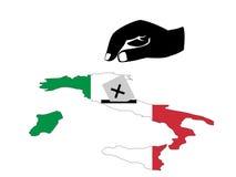 Abstimmung in der italienischen Wahl lizenzfreie abbildung