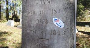 Abstimmung der toten Person Lizenzfreies Stockfoto