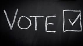 Abstimmung in der Wahl Lizenzfreie Stockbilder