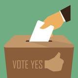Abstimmung an der Wahlurne stock abbildung
