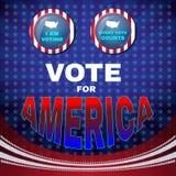 Abstimmung für Amerika wähle ich Fahne Stockfotos