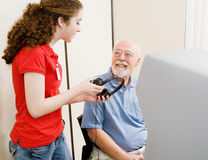 Abstimmung für die Hörfähigkeit - gehindert Lizenzfreies Stockbild
