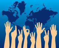 Abstimmung für die Welt vektor abbildung
