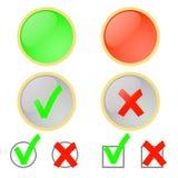 Abstimmung für und gegen. Lizenzfreies Stockfoto