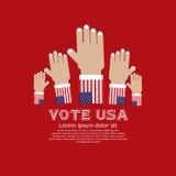 Abstimmung für Wahl. Stockbild