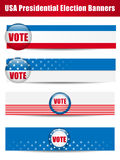 Abstimmung-Fahnen. Set von vier mit Hintergrund Stockfotos