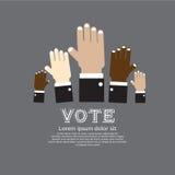 Abstimmung für Wahl. Stockfoto