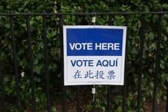 Abstimmung hier stockbild