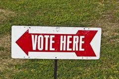 Abstimmung hier kennzeichnen Lizenzfreie Stockfotos