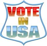 Abstimmung im USA-Zeichen Lizenzfreie Stockbilder