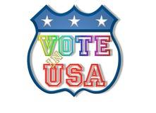 Abstimmung im USA-Zeichen Lizenzfreies Stockbild