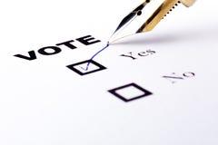 Abstimmung ja Stockbild
