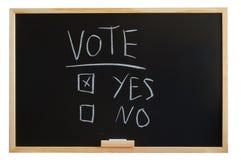 Abstimmung ja oder Nr. Stockbilder
