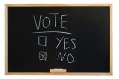 Abstimmung ja oder Nr. Stockfotografie