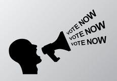 Abstimmung jetzt Lizenzfreie Stockfotografie