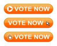 Abstimmung knöpfen jetzt vektor abbildung