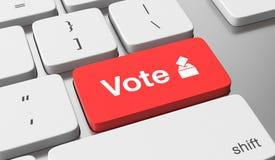 Abstimmung online lizenzfreie abbildung