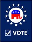Abstimmung-Republikaner-Schild Lizenzfreies Stockfoto