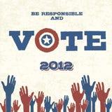 Abstimmung! Retro- Plakat Stockfotografie
