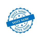 Abstimmung stempeln jetzt Illustration Stockbilder