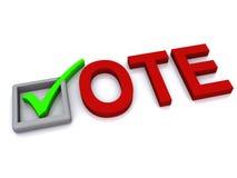Abstimmungkonzept vektor abbildung