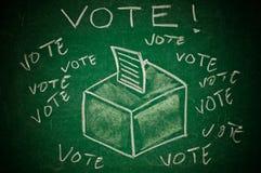 Abstimmungkonzept lizenzfreie stockfotografie