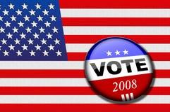 Abstimmungmarkierungsfahne stock abbildung
