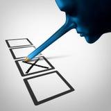 Abstimmungs-Betrug stock abbildung