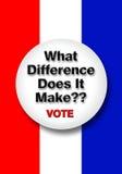 Abstimmungs-Knopf. Stockbild