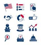 Abstimmungs- und Wahlikonen Lizenzfreies Stockfoto