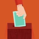 Abstimmungskonzept des Vektors in der flachen Art Stockbild