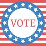 Abstimmungskonzept durch Abstimmung der Art kennzeichnen USA Lizenzfreies Stockfoto