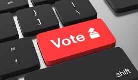 Abstimmungson-line-Konzept lizenzfreie abbildung