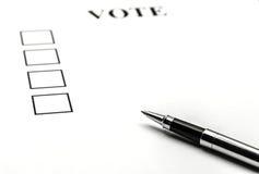 Abstimmungspapier Lizenzfreie Stockfotografie