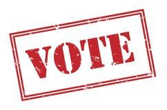 Abstimmungsstempel auf weißem Hintergrund Stockbild