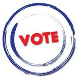 Abstimmungstempelzeichen Lizenzfreie Stockfotografie