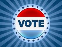 Abstimmungwahlabzeichen Stockfoto