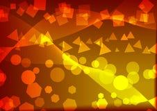 Abstração amarela Fotografia de Stock Royalty Free