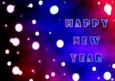 Abstração com o desejo de um ano novo feliz e do número do ano 2019 ilustração stock