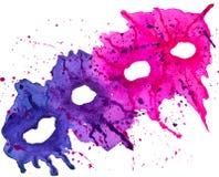 Abstração cor-de-rosa azul ilustração royalty free