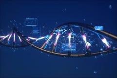 abstração 3D futurista do ADN imagem de stock