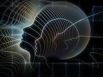 Abstração da geometria da alma Imagens de Stock Royalty Free